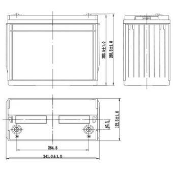АКБ AQQU 12HFL600 (12V/135Ah)