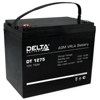 АКБ Delta DT 1275 (12V / 75Ah)