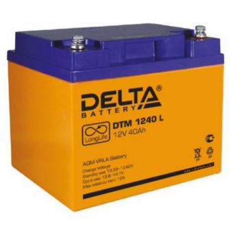 АКБ Delta DTM 1240 L (12V / 40Ah)
