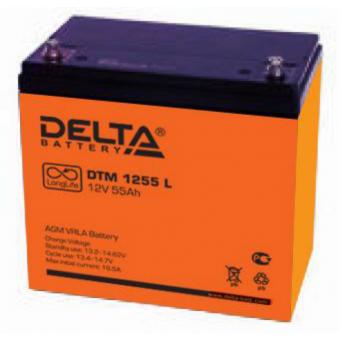 АКБ Delta DTM 1255 L (12V / 55Ah)