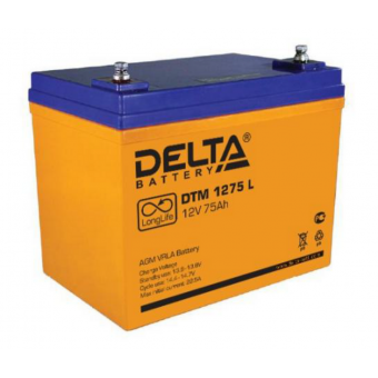 АКБ Delta DTM 1275 L (12V / 75Ah)