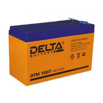 АКБ Delta DTM 1207 (12V / 7,2Ah)