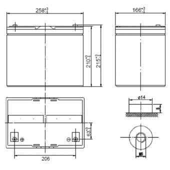 АКБ Ventura HRL 12420W (12V / 80Ah)