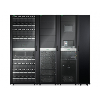 ИБП APC Symmetra PX 125 кВт, масштабируемая до 250 кВт система с монтируемыми с правой стороны шкафом сервисного байпаса и системой распределения электропитания
